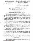 Quyết định việc công bố xếp loại doanh nghiệp năm 2011 cho Tổng công ty Xây dựng đường thủy