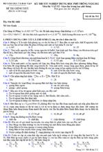 Đề thi tốt nghiệp THPT môn Vật Lí hệ Phổ thông 2012 - Mã đề 512 đề thi tn thpt môn vật lí