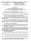 Quyết định về việc quy định tiêu chuẩn, định mức sử dụng trụ sở làm việc của cơ quan Nhà nước