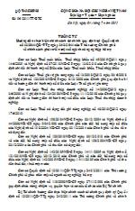 Thông tư hướng dẫn thực hiện chính sách tài chính quy định tại Quyết định số 12/2011/QĐ-TTg