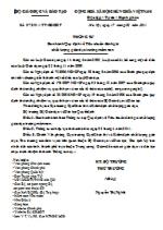 Thông tư số 07/2011/TT-BGDĐT ban hành quy định về tiêu chuẩn đánh giá chất lượng giáo dục trường mầm non