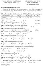 Đề kiểm tra học kì II lớp 7 môn Toán - Phòng Giáo dục và Đào tạo Đồng Nai (Đề 7) đề kiểm tra môn toán