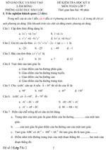 Đề kiểm tra học kì II lớp 7 môn Toán - Sở Giáo dục và Đào tạo Lâm Đồng (Đề 3) đề kiểm tra môn toán