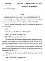 Luật số 36/2009/QH12: Luật sửa đổi, bổ sung một số điều của Luật Sở hữu trí tuệ