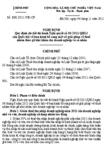 Nghị định số 101/2011/NĐ-CP quy định chi tiết thi hành Nghị quyết số 08/2011/QH13 của Quốc hội