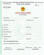 Giấy khai sinh (bản chính) mẫu giấy khai sinh bản chính