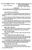 Thông tư số 20/2011/TT-BVHTTDL quy định về điều kiện hoạt động của cơ sở thể thao tổ chức tập luyện quyền anh