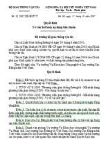 Quyết định số 01/2007/QĐ-BGTVT của Bộ Giao thông vận tải: Về việc bắt buộc áp dụng tiêu chuẩn