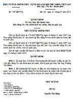 Quyết định số 759/QĐ-TTG về việc thay đổi thành viên hội đồng tư vấn chính sách tài chính, tiền tệ quốc gia