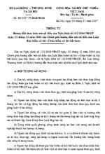 Thông tư số 03/2007/TT-BLĐTBXH hướng dẫn thực hiện một số điều của nghị định số 152/2006/nđ-cp