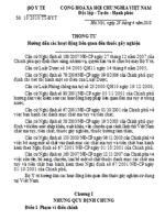Thông tư số 10/2010/TT-BYT hướng dẫn các hoạt động liên quan đến thuốc gây nghiện