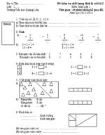 Đề kiểm tra chất lượng kì I môn Toán lớp 1 năm học 2012 - 2013 đề kiểm tra môn toán
