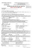 Đáp án đề thi Đại học môn Hóa khối A