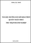 Tài liệu hướng dẫn kê khai thuế quyết toán thuế thu nhập Doanh nghiệp