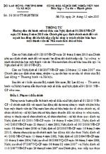 Thông tư số 38/2010/TT-BLĐTBXH hướng dẫn thi hành một số điều của nghị định số 91/2010/nđ-cp quy định chính sách đối với người lao động dôi dư khi sắp xếp lại công ty tnhh một thành viên
