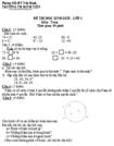 Đề thi học sinh giỏi môn Toán lớp 1 - Trường tiểu học Định Tiến (có đáp án)