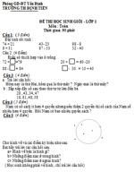 Đề thi học sinh giỏi môn Toán lớp 1 - Trường tiểu học Định Tiến (có đáp án) đề thi học sinh giỏi toán