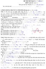 Đề thi thử Đại học môn Vật lý khối A năm 2013 (có đáp án) đề thi thử đại học