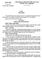Luật số 58/2010/QH12 luật viên chức