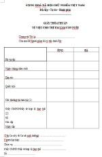 Mẫu giấy thỏa thuận về việc cho trẻ em làm con nuôi