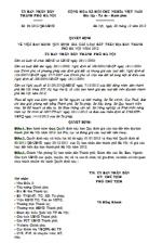 Quyết định 51/2012/QĐ-UBND quy định giá đất trên địa bàn thành phố hà nội năm 2013