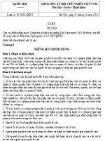 Luật Tố cáo số 03/2011/QH13