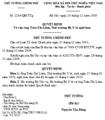 Quy phạm pháp luật số 2204/QĐ-TTG