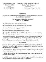 Nghị quyết 71/2012/NQ-HĐND của UBND tỉnh Vĩnh Phúc sửa đổi phân cấp nguồn thu, nhiệm vụ chi giữa ngân sách các cấp: tỉnh, huyện, xã ổn định giai đoạn 2011 - 2015 của tỉnh vĩnh phúc