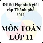 Đề thi học sinh giỏi thành phố Đà Nẵng môn Toán lớp 11 năm học 2010 - 2011 (Có đáp án) đề thi học sinh giỏi