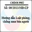 Nghị định 09/2013/NĐ-CP