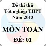 Đề thi thử tốt nghiệp THPT năm 2013 - môn Toán (Đề 1) đề thi thử môn toán