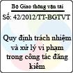 Thông tư số 42/2012/TT-BGTVT