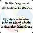Thông tư số 47/2012/TT-BGTVT