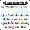Thông tư số 26/2012/TT-BGTVT
