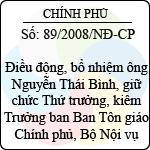 Nghị định số 89/2008/NĐ-CP hướng dẫn thi hành pháp lệnh sửa đổi, bổ sung một số điều của pháp lệnh ưu đãi người có công với cách mạng