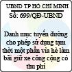 Quyết định 699/2013/QĐ-UBND