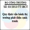Thông tư 03/2013/TT-BCT