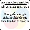 Thông tư liên tịch 05/2013/TTLT-BYT-BCT