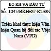 Công văn 1045/2013/BKHĐT-KTĐN