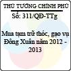 Quyết định 311/2013/QĐ-TTg