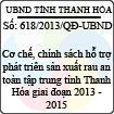 Quyết định 618/2013/QĐ-UBND của UBND tỉnh Thanh Hóa