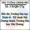 Quyết định 378/2013/QĐ-TTg