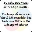 Quyết định 794/2013/QĐ-BGDĐT