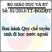 Thông tư 01/2013/TT-BGDĐT