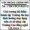 Công văn 1788/VPCP-KGVX