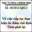 Nghị quyết 36/2012/QH13