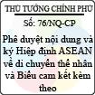 Nghị quyết 76/NQ-CP