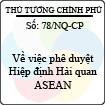 Nghị quyết 78/NQ-CP