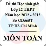 Đề thi học sinh giỏi TP Hồ Chí Minh lớp 12 THPT năm 2012 - 2013 môn Toán (vòng 2) đề thi học sinh giỏi