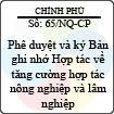 Nghị quyết 65/NQ-CP
